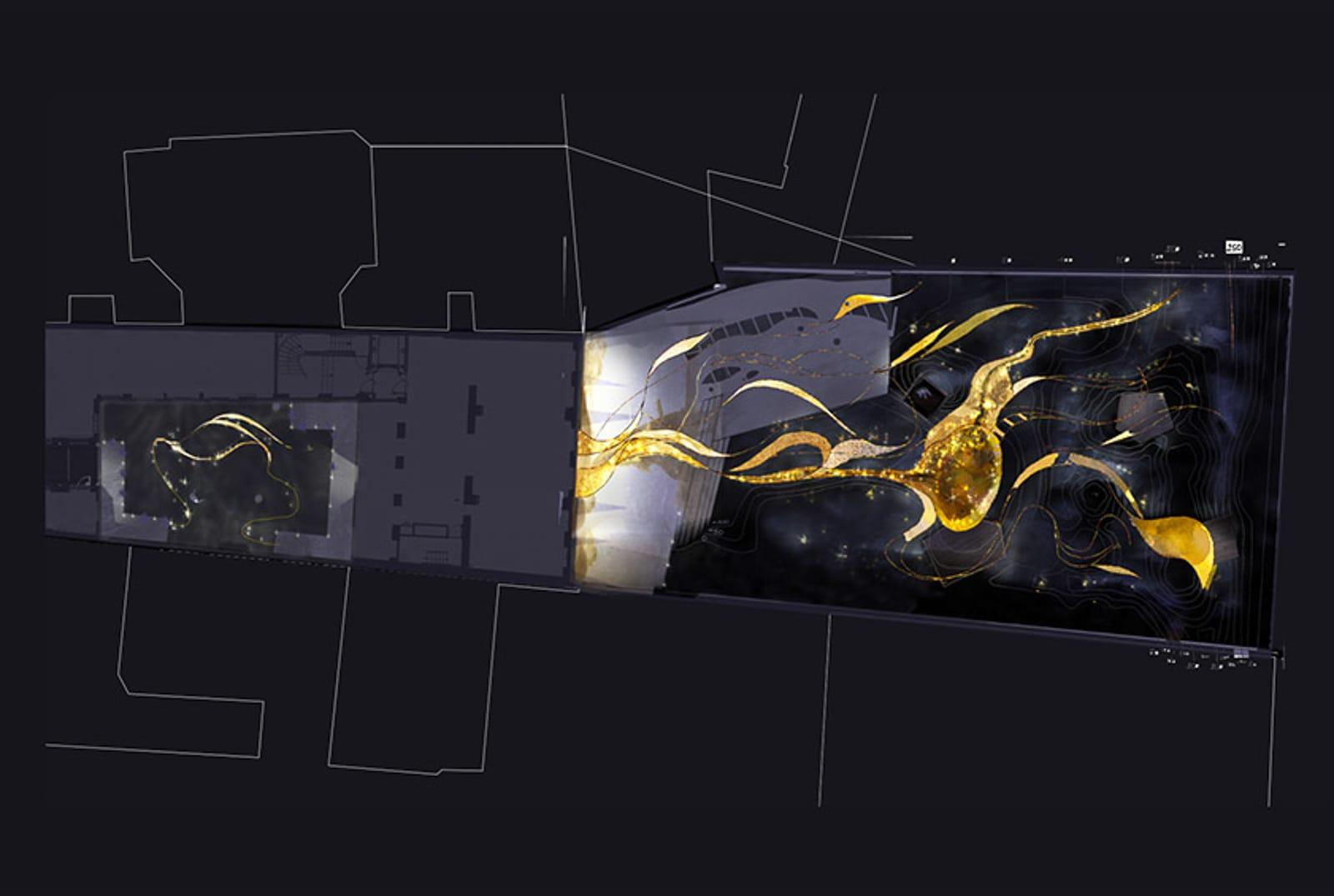 plan nuit lumière jardinmuseeparfum plan lumière®Hermeline carpentier