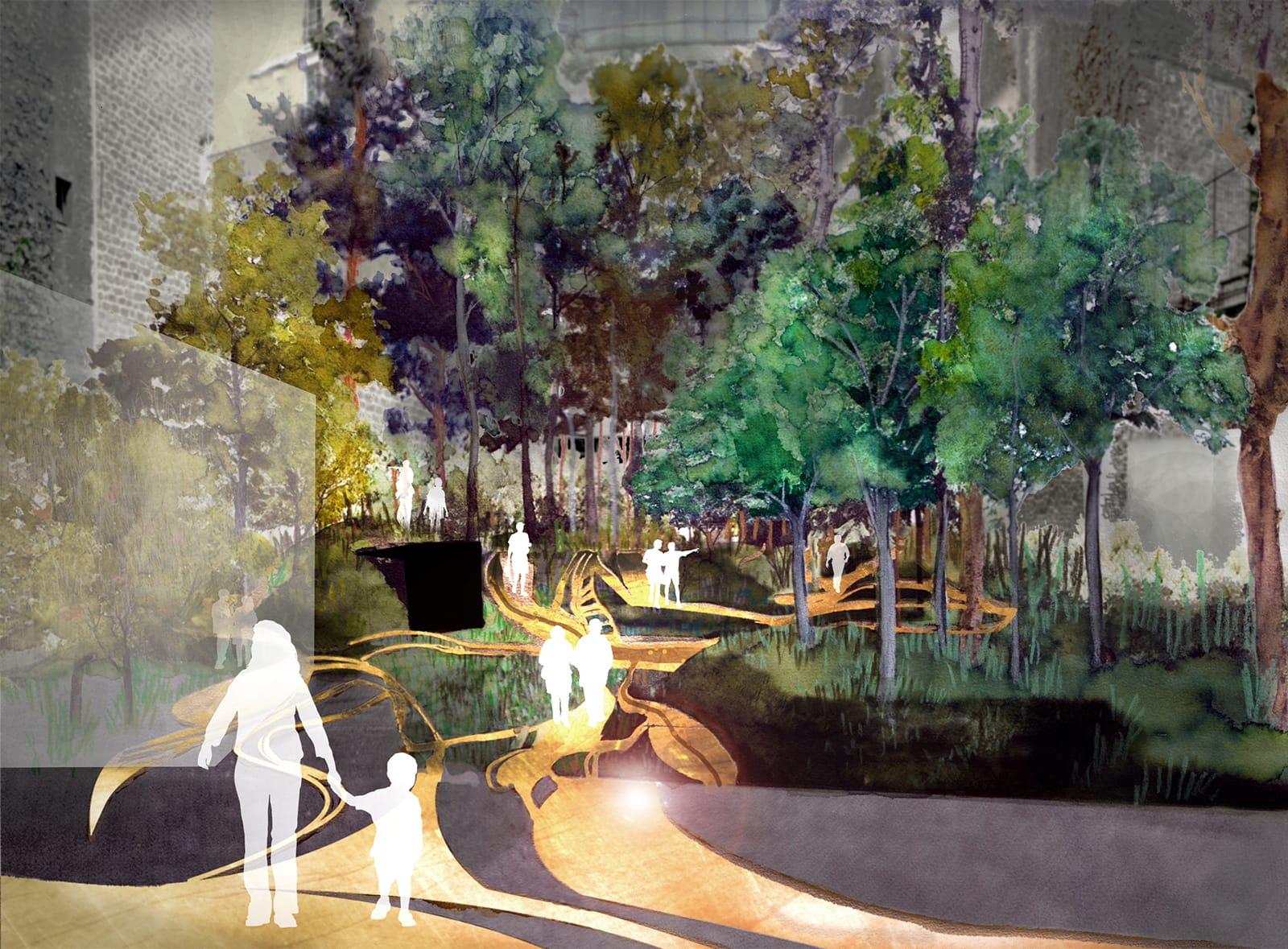 vue jardinmuseeparfum plan lumière®Hermeline carpentier