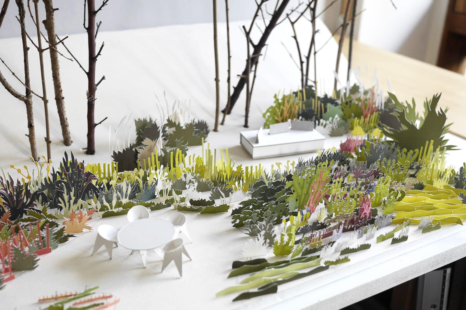 maquette jardin®Hermelinecarpentier