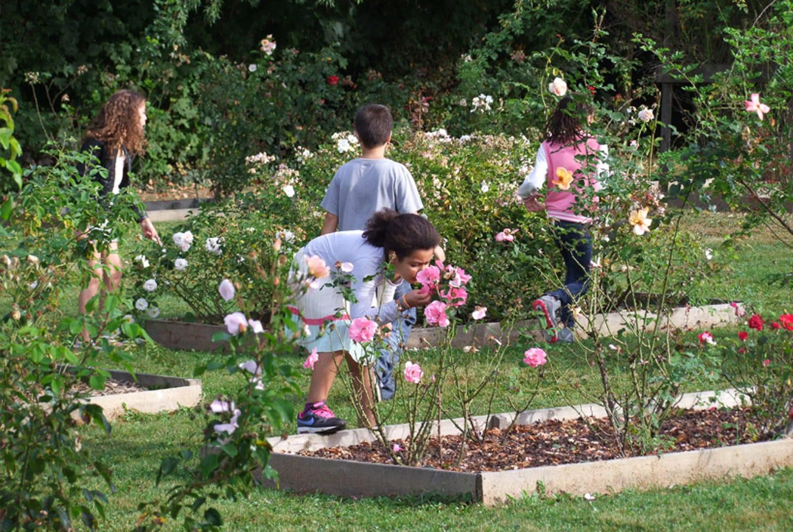Visite parc des lilas les enfants du patrimoine un jardn dans ma main CAUE 94®Hermeline carpentier
