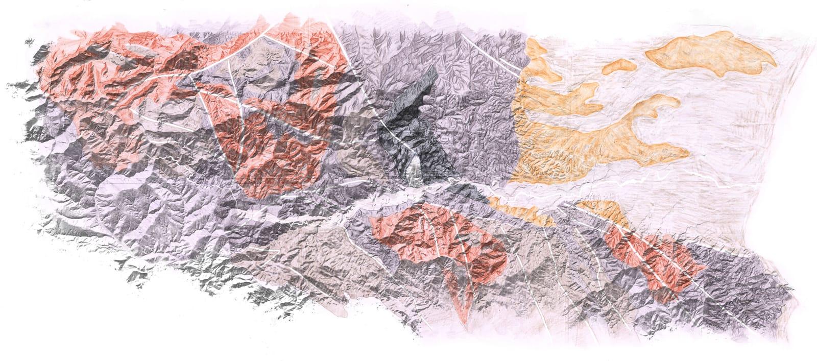 etude vallee du tech carte topographie géologie ®HermelineCarpentier